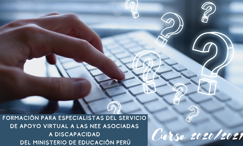 Formación para especialistas del Servicio  de Apoyo Virtual a las NEE asociadas  a discapacidad  del Ministerio de Educación PERÚ